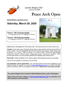 Peace Arch Open @ Lynden Shotgun Club